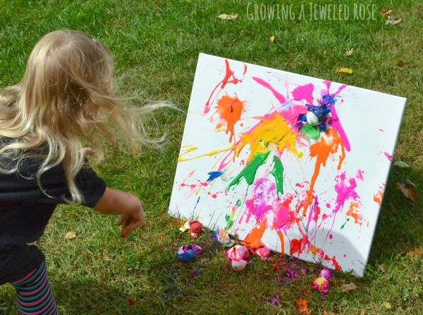egg splat painting